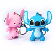 1pc Cartoon Stitch Design LED Keychain with Sound Kid Toy