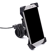 Motorcycle mobile stand holder electronics driver mobile charger holder USB interface with switch