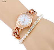 Women's Fashion Stainless Steel Band Quartz Analog Bracelet Watch