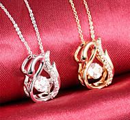 Snake Spirit Diamond Ms 18K Gold Titanium Steel NecklacesImitation Diamond Birthstone