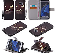 Fierce Face Pattern PU Leather Wallet Phone Case For Samsung Galaxy  S7/S7 edge