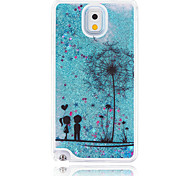The Couple of Dandelion Painted Quicksand PC Phone Case For Samsung Galaxy Note3/Note4/Note5 + A Touch Screen Pen