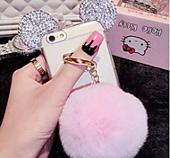 LADY®Mickey Style Rabbit Hair Ball  Case for iphone6/6s(4.7)
