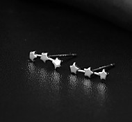 Fashionable OL Romantic All Over The Sky Star 925 Ms Tremella Nail Exquisite Joker Earrings