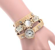 L.WEST Ladies' The Opals Rivet Diamonds Quartz Bracelet Watch Cool Watches Unique Watches