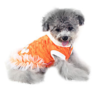 Dog Coat / Hoodie White / Orange Winter Fashion