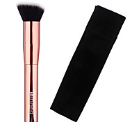 Lashining High Quality Professional Beauty Foundation Brush Gift One Black Flannelette Like metallic handle