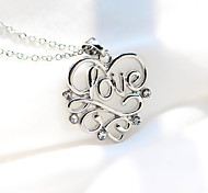 Hollow LOVE Letters Creative Couple Heart-Shaped Necklace