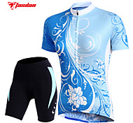 TASDAN Bike/Cycling Jersey / Padded Shorts / Arm Warmers / Jersey + Shorts / Shorts / Tops Women's Short SleeveBreathable / Quick Dry /
