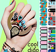 So Cool!2016 Popular Stickers Series Big Eyes Nail Art Stickers 14PCS
