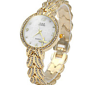 Diamond Women Quartz Chain Watch with Stainless Steel Band