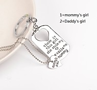 Hand Stamped Jewelry keychain& NecklaceFamily Jewelry Set of 2