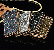 Luxury Bling Crystal Diamond Wallet Flip Card Case Cover For iPhone 5S