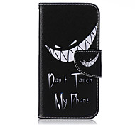 Grin Pattern PU Leather Material Phone Case for Samsung Galaxy J1/J1ACE/J2/J3/J5/J7/G360/G530