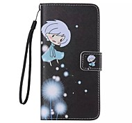 Girl Painted PU Phone Case for iphone5/5S
