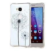 White dandelion Grainy Inner Shockproof Air as TPU soft shell cover Case for Huawei Honor 5X