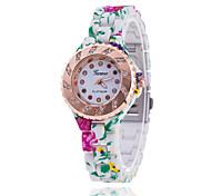 diamantes impressos Xu ™ mulheres pulseira relógio de quartzo