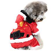 Perros Abrigos Rojo Invierno Moda