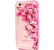 Para Funda iPhone 6 Linterna LED / Transparente / Diseños Funda Cubierta Trasera Funda Flor Suave TPUiPhone 7 Plus / iPhone 7 / iPhone
