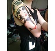 водонепроницаемый временный татуировки большие руки наклейки поддельные передачи татуировки сексуальные татуировки