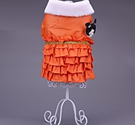 Dog Coat / Clothes/Clothing Red / Blue / Orange Winter / Spring/Fall Solid / Characters Keep Warm / Fashion-Pething®