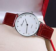 Xu™ Women's Leather Diamonds Quartz Watch