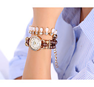 YILISHA ® Girls' Beads Pendant Bangle Bracelet Watches Round Dial Quartz Dress Watches Fashion Jewelry Magnet Buckle Cool Watches Unique Watches