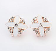 Wowen's New European Style Fashion Elegant Shiny Rhinestone Flower Geometry Stud Earrings