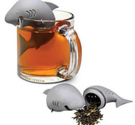 Silicone Shark Tea Maker Creative Villain