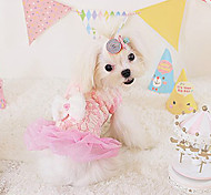 Dog Dress Blue / Pink / Yellow Dog Clothes Spring/Fall Fashion