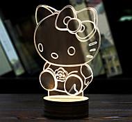 visuelle 3d atmosphère d'ambiance modèle de ruban a conduit la décoration usb lampe de table nuit colorée cadeau lumière (couleurs
