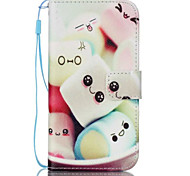 Cotton Candy Face Pattern PU Material Card Lanyard Case for Samsung Galaxy S7/S7Edge