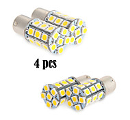 4X White 1156 BA15S LED 27-SMD Light Bulbs Tail Backup RV Camper 1141