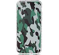 padrão de camuflagem verde na meia-derrapante caso de telefone TPU para iphone se