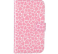 Pink Love Pattern Embossed PU Leather Case for Galaxy Grand Neo