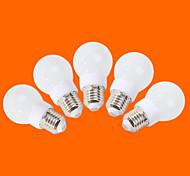 E26/E27 LED Kugelbirnen G60 9 SMD 3528 240 lm Warmes Weiß Kühles Weiß Dekorativ AC 220-240 V 5 Stück