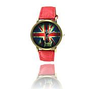 Fashion watch retro British flag denim quartz watch students watch men and women Wrist Watch Cool Watch Unique Watch