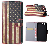 US Flag Magnetic PU Leather wallet Flip Stand Case cover for DOOGEE X5