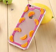TPU caso de volta de frutas para iphone6,6s (cores sortidas)