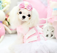 Dog Dress Green / Pink Dog Clothes Spring/Fall Fashion