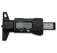 25,4 mm / 1-in-Digital-LCD Autoreifen Radlauffläche Pad Tiefe Bremssattel Messer schwarz