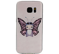 Angel Pattern TPU Material Phone Case for Samsung Galaxy S7/S7 edge/S7 Plus