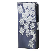 For Samsung Galaxy Case with Stand / Flip Case Full Body Case Flower PU Leather Samsung J5 (2016)