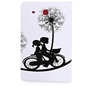 Cycling People Pattern PU Leather Material Tablet Sleeve for Samsung Galaxy Tab E 9.6 (T560)