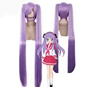 Popular!Beautiful Purple Color Straight Lucky Star Synthetic Wigs