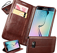 Multicolor High-end Splice Lanyard Genuine Leather Phone Case for Samsung Galaxy S7/S7 Edge/S7 Edge +(Assorted Colors)