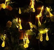 King Ro 50LED Xmas Crystal Water Drop Decorative String Light(KL0040-RGB,White,Warm White)