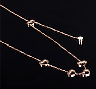 Heart Ms 18K Gold Titanium Steel Necklaces