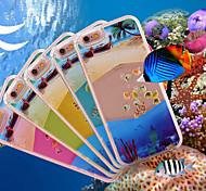 couleur de natation réaliste petits poissons en plastique de haute qualité de cas arrière dur pour iPhone 6 plus / 6s et plus (couleurs