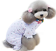 Dog Clothes/Jumpsuit / Pajamas White Spring/Fall Classic Fashion